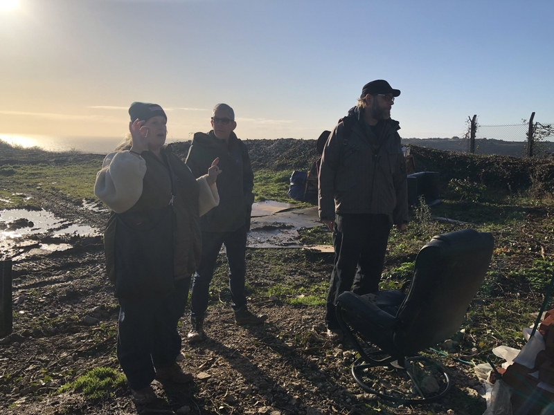 Emily Peasgood, Darius Wilson & Al Harle: Site Visit, Dec 2019. Image by Joanna Jones.