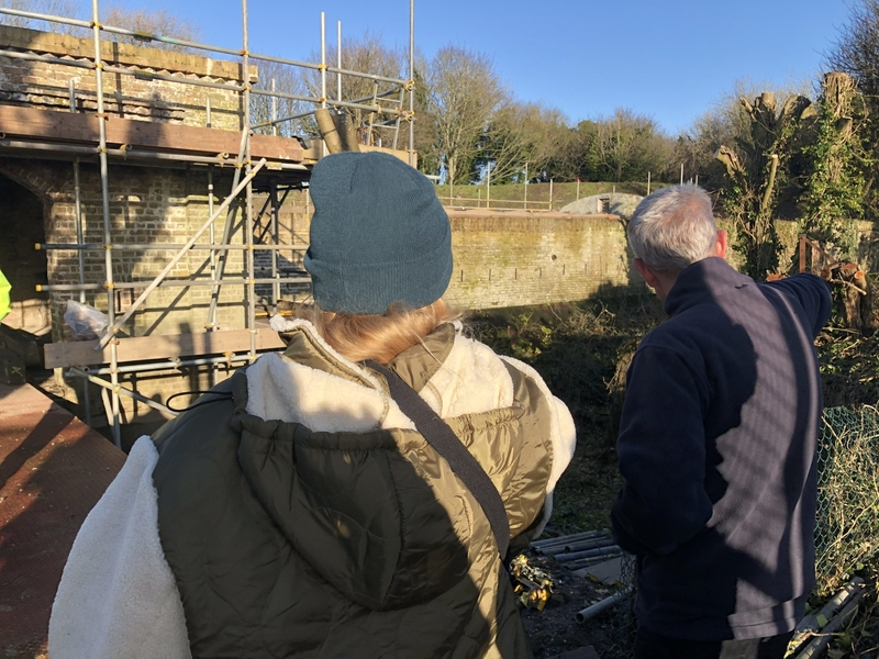 Emily Peasgood & Chris Valdus (Land Trust): Site Visit, Dec 2019. Image by Joanna Jones.