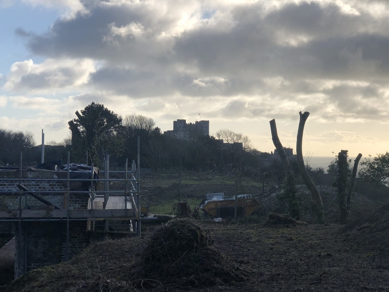 View of Dover Castle from West Battery. Image by Joanna Jones.