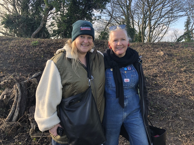 Emily Peasgood and Theresa Smith: Site visit, Dec 2019. Image by Joanna Jones.