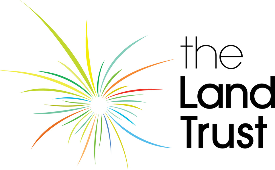 The Land Trust Logo: They are delivery partners for I Would Rather Walk With You.