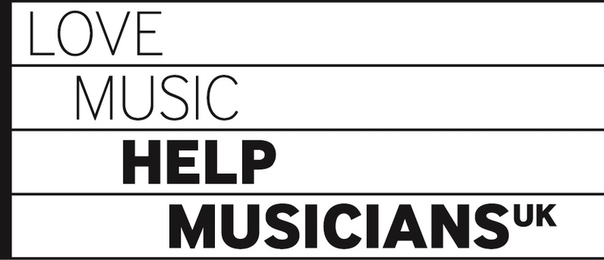 Help Musicians UK Logo: They funded research and development surround the composition of Beacons.