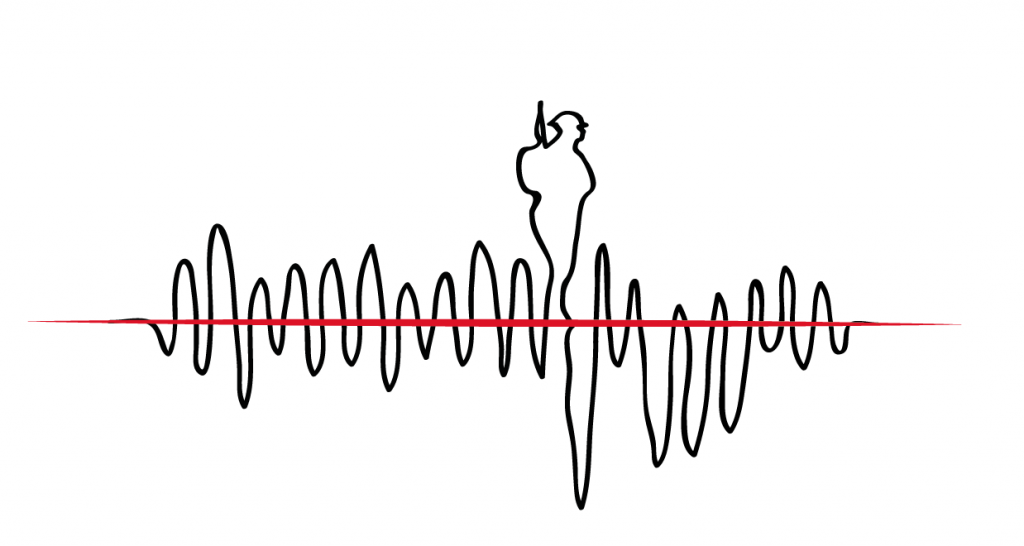 I Would Rather Walk With You Image: A sound wave with the outline of a soldier emerging from it